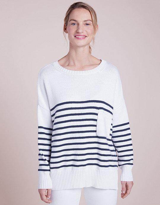 caab8e63f1da Oversized Breton Stripe Jumper | Parisienne Dressing | The White ...