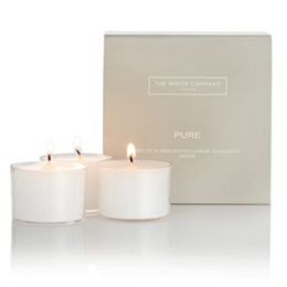 Pure Large Tealights - Set of 8