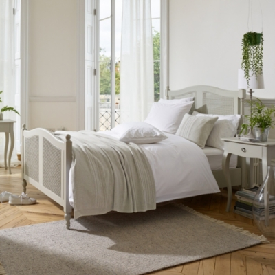 Provence Single Bed - Pale Grey