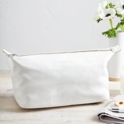 white company bag grey