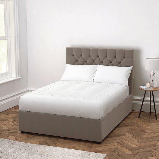 Richmond Silver Grey Velvet Bed