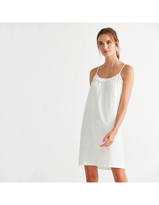 429f17ae3ccb8 Ruffle Trim Nightie   Nightdresses   The White Company UK