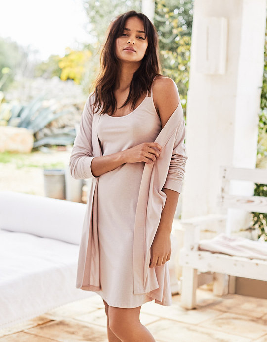 Added to bag. Checkout. Continue shopping. Back  The White Company ·  Clothing · Sleepwear · Nightgowns  Jersey Satin Trim Nightgown 48f6becaf
