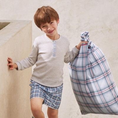 Sailing Check Pyjama Shorts (1-12yrs)