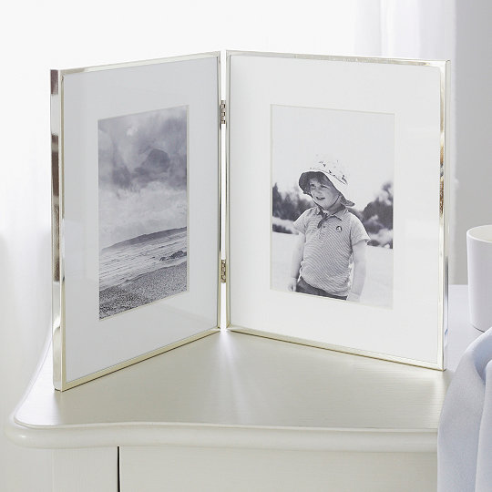 Fine Silver Hinged Photo Frame 4x6 Photo Frames The White
