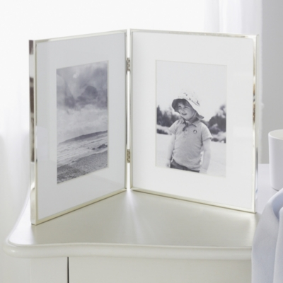 Fine Silver Hinged Photo Frame 4x6""