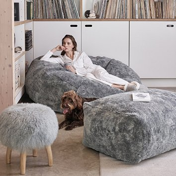 Beanbags Pouffes Small Large The White Company Uk