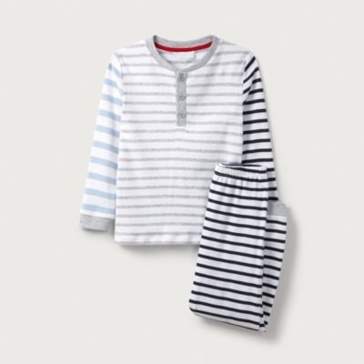 Stripe Henley Pyjamas (1-12yrs)