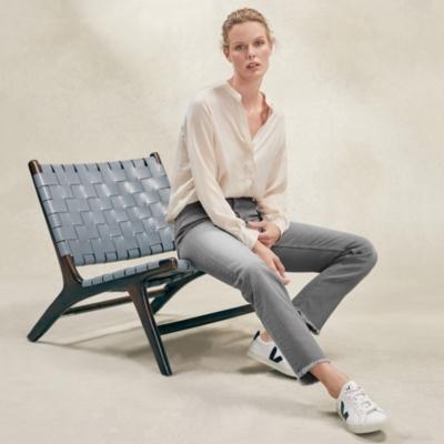 155 Straight-Leg Jeans - Pale Grey