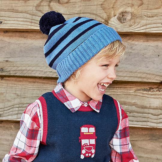 Boys Stripe Bobble Hat (1-6yrs)  6a2d59e7b83