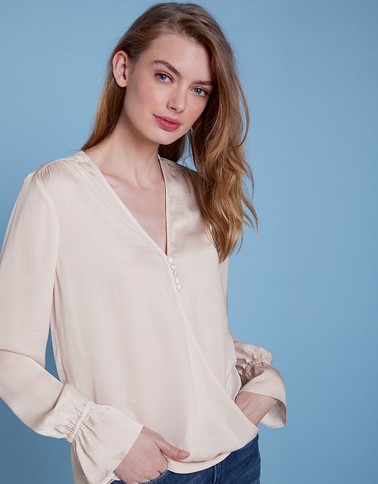 c4ac1c320301 Added to bag. Checkout. Continue shopping. The White Company · Sale ·  Clothing Sale; Satin Wrap Button Front Blouse