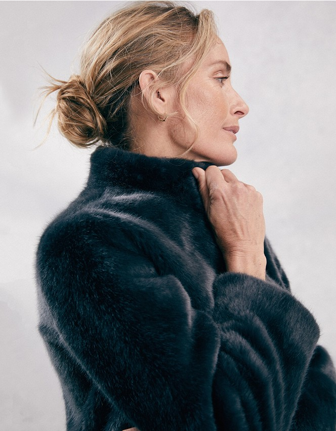 Short Faux Fur Coat Coats Jackets, Fur Coat White Company