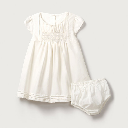 263e4170bf62 Silk Smocked Dress | Baby Clothing Sale | The White Company US