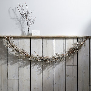 Sparkle Fern & branch Christmas Garland