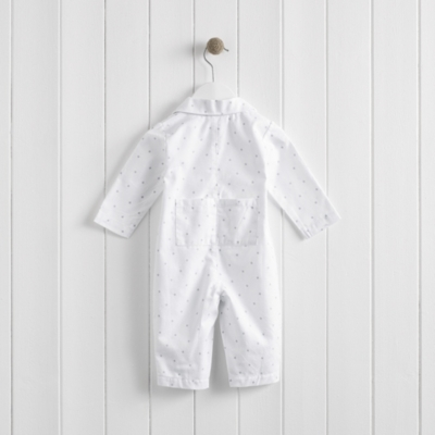 Star Flannel Sleepsuit The Little White Company The