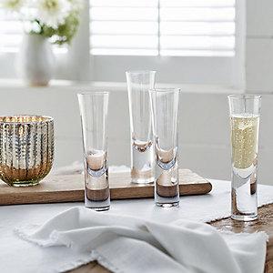 Stemless Champagne Flutes – Set of 4