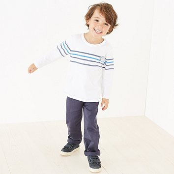 3077f00538b4c Stripe T-Shirt   Chinos Set (1-6yrs)
