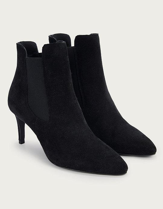 bc3461751d6b Suede Kitten Heel Boots | Shoes, Sandals & Espadrilles | The White ...