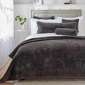 Super-Soft Faux-Fur Throw & Cushion Cover Collection