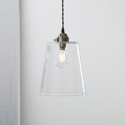Tapered Glass Large Pendant Light