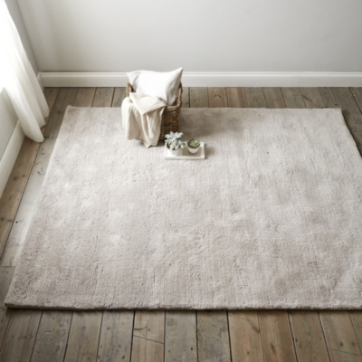Tufted Wool Rug - Silver