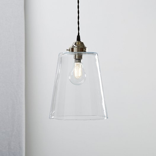 Tapered Gl Large Pendant Light