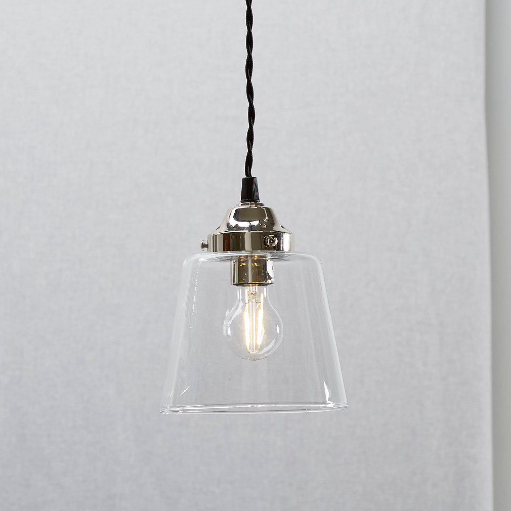 Tapered glass small pendant light