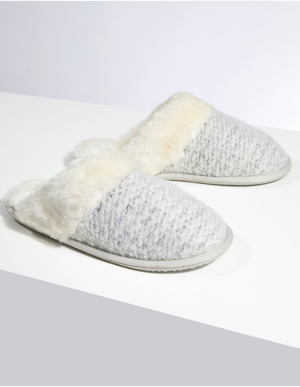 fb246397c6bed Textured Felt Mule Slippers