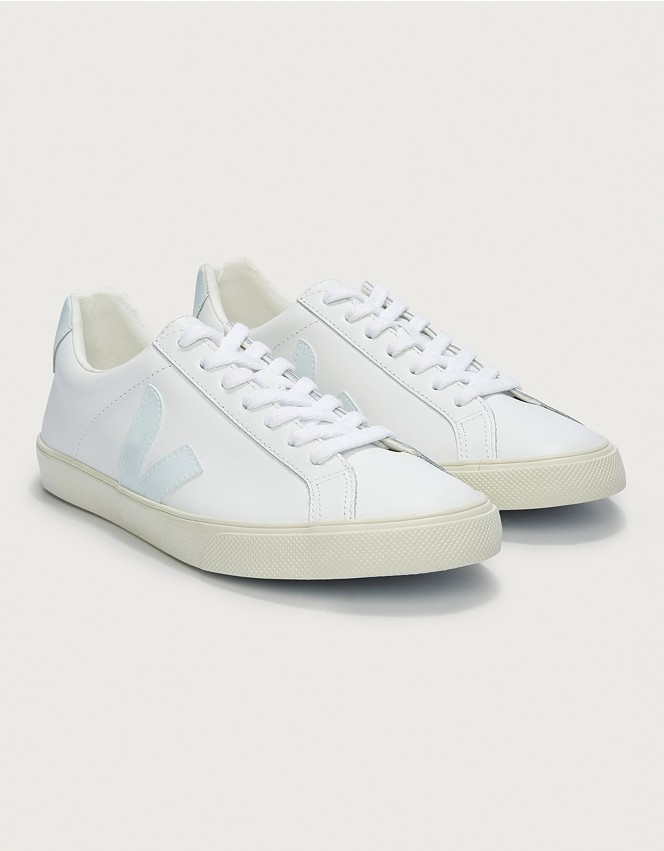 Consciente Prueba Leer  Veja Esplar Leather Trainers | Shoes, Boots & Trainers | The White Company  UK