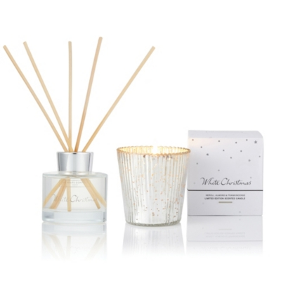 White Christmas Mini Diffuser & Votive Set