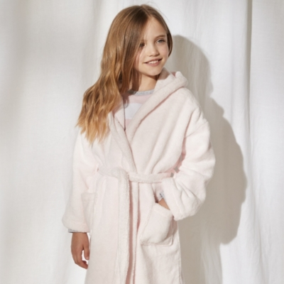 Hydrocotton Hooded Robe (5-12yrs) - Whisper Pink
