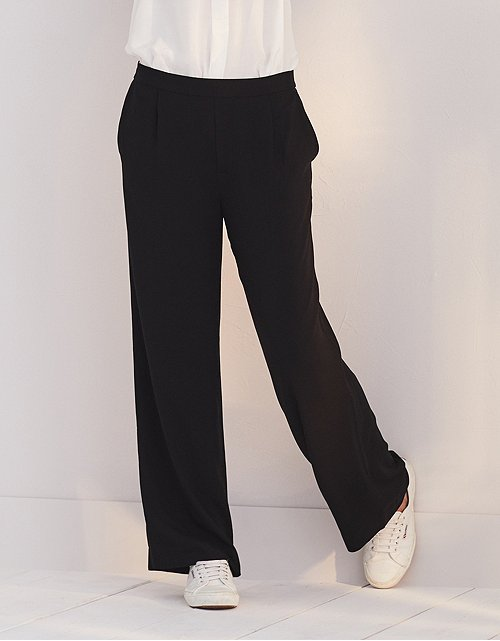 258a80338ca Wide Leg Pleated Trousers