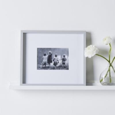 """Fine Wood Photo Frame 5x7"""" - Grey"""