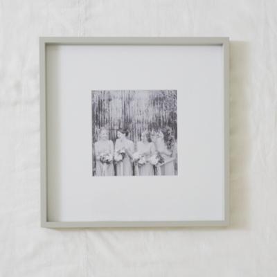 """Fine Wood Photo Frame 8x8""""  - Grey"""