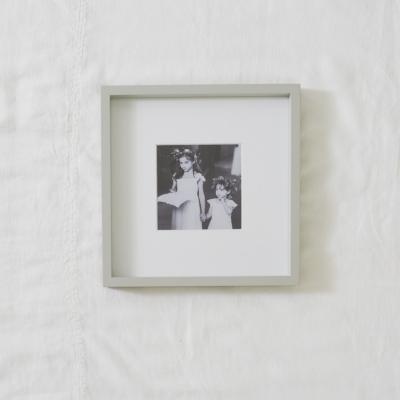 """Fine Wood Photo Frame 5x5"""" - Grey"""