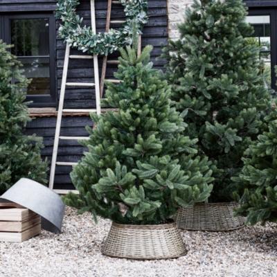 Wicker Christmas Tree Skirt Christmas Trees The White Company Uk