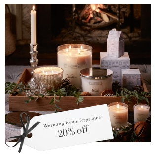 20% All Candles & Fragrance